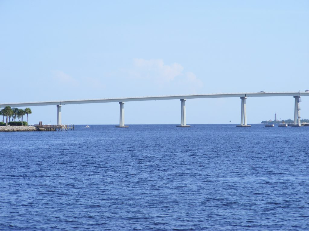 Sanibel Causeway crossing the Caloosahatchie River.