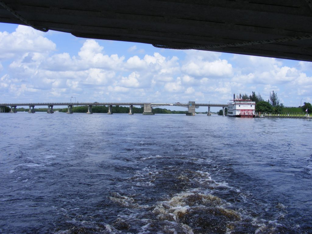 Highway 30 Bridge over the Caloosahatchie River.