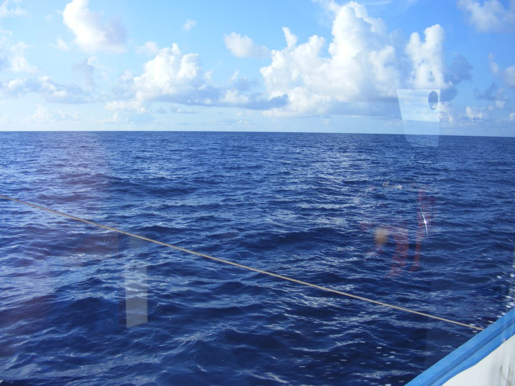 Heading south off the western coast of Florida, heading for the Dry Tortugas.