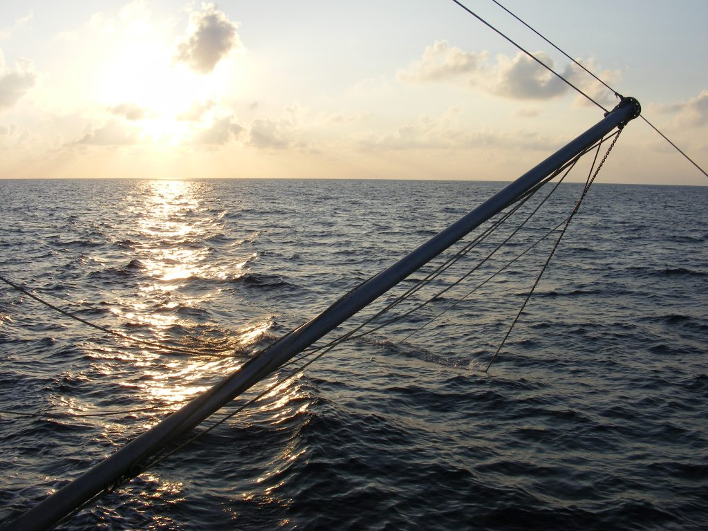 Early morning in the Gulf of Mexico, north of Cuba.