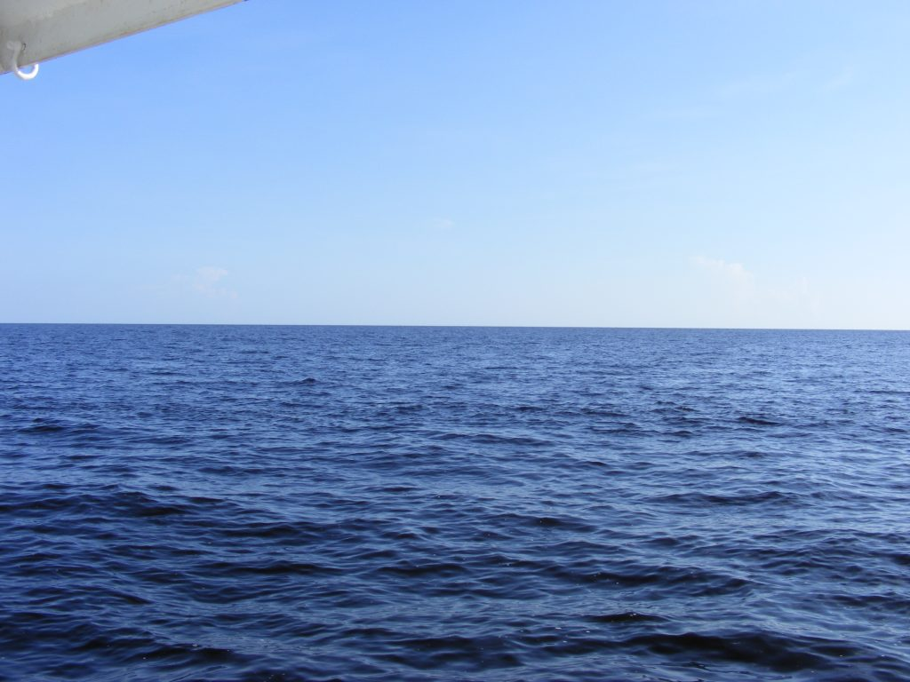 We finally exit the Caloosahatchie River and reach the open sea.