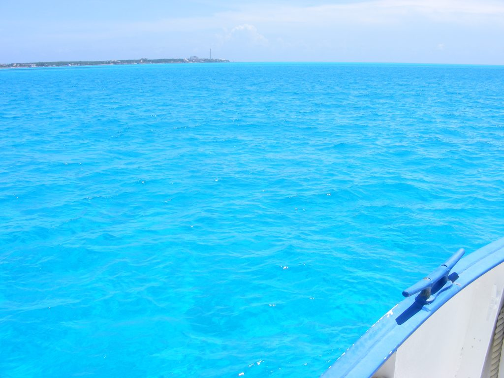 Crystal clear waters of Isla Mujeres.