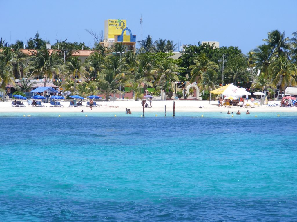 The beach at Isla Mujeres