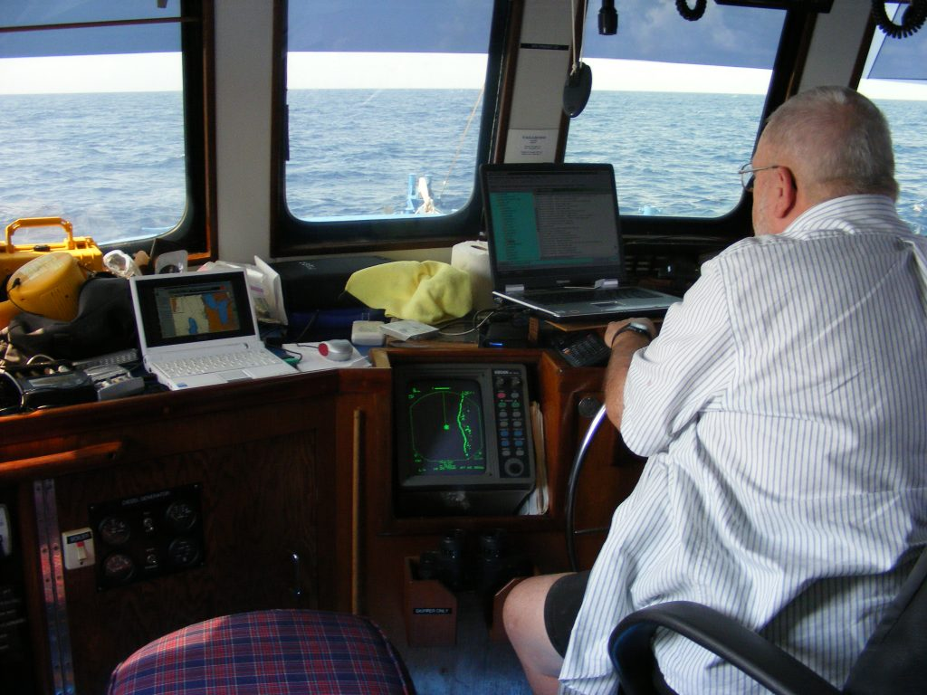 Bert at the helm.