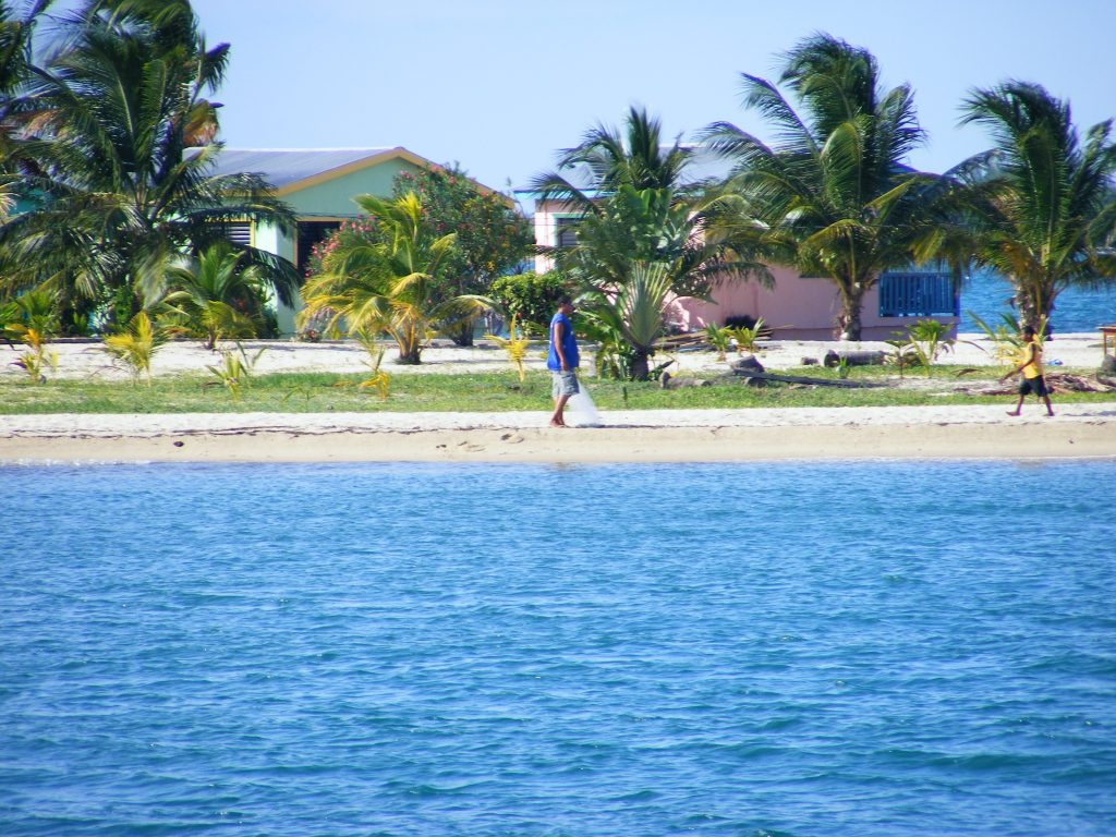 Coast of Placencia, Belize.