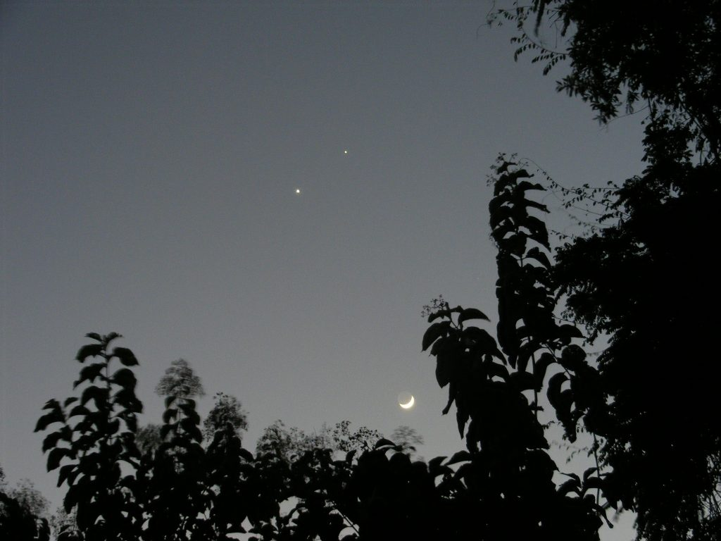 Jupiter, Venus and Moon